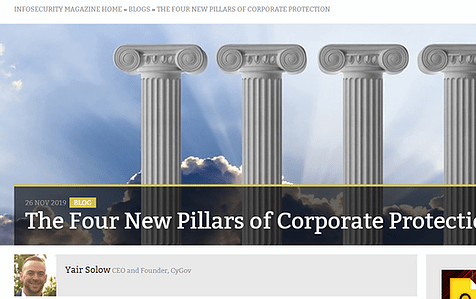 The Four New Pillars of Corporate Protection Yair Solow on InfoSecurity Magazine